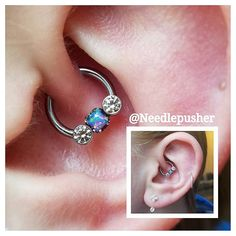 Daith with gorgeous jewelry from anatometal