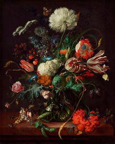 """Jan Davidsz. de Heem : """"Vase of Flowers"""" (c1660) - Giclee Fine Art Print"""