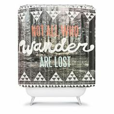 Not all who wander are lost. DENY Designs Wesley Bird Wander Fabric Shower Curtain #DestinationSummer #Kohls #quote