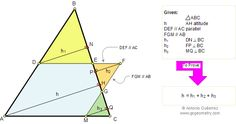 Problem 91. Similar Triangles, Altitude, Parallel, Perpendicular. Level: High School, College, Teaching