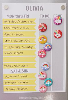 FREE Printable Chore Chart (Customizable Too!) These free printable chore charts are perfect for magnetic boards and feature sections for weekdays and weekends. Customizable and available in two sizes! Chore Chart For Toddlers, Charts For Kids, Chore Chart Toddler, Diy Family Chore Chart, Chore Chart For Kids, Free Printable Chore Charts, Free Printables, Chore Magnets, Magnetic Chore Charts