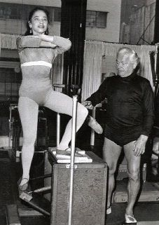 Eve Gentry with Joseph Pilates. #pilates
