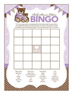 Instant Download Teddy Bear Baby Shower Games by Studio20Designs