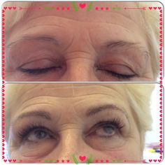 What a difference brows n lashes make !!!