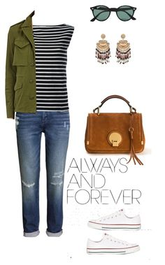 """Always"" by claire-petzi on Polyvore featuring mode, H&M, Yves Saint Laurent, Chloé, NLST, Ray-Ban et Converse"