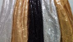 One Meter 2mm/3mm Square Chunky Glitter Metal Mesh Fabric Metallic cloth Metal Sequin Sequined Fabric Curtain Home Decoration