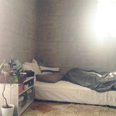 YaSuNoさんの、観葉植物,ニトリ,IKEA,一人暮らし,西海岸インテリア,塩系インテリア,無印良品,ベッド周り,のお部屋写真