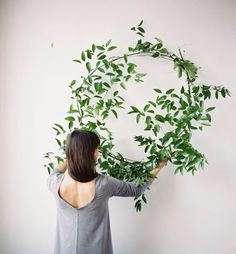 Natural, simple, and perfect for me. Use greenery to make wreaths and statement pieces in your wedding decorating