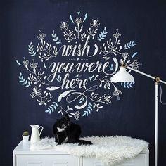 Beautiful chalk lettering by Chalkboard Typography, Chalk Lettering, Typography Letters, Brush Lettering, Lettering Design, Lettering Ideas, Calligraphy Letters, Hand Drawn Type, Letter Wall