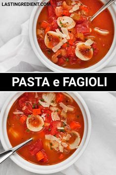 This quick version of pasta e fagioli is one of my go-to pantry soups.To start, I sauté onions, onions, carrots and garlic. Then I pour in a big can of diced tomatoes, cannellini beans, vegetable broth and spices to the pot.The dried spices are a mix of rosemary, oregano, salt and pepper. Quick Recipes, Other Recipes, Healthy Recipes, Pasta E Fagioli Soup, How To Dry Rosemary, Tomato Vegetable, Saute Onions, Group Meals