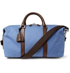 MulberrySmall Clipper Leather-Trimmed Canvas Holdall Bag