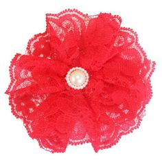 Zilly Bean Red Lace Hair Clip. Zilly Bean Red Lace Hair Clip. See More Hair Bows at http://www.ourgreatshop.com/Hair-Bows-C206.aspx
