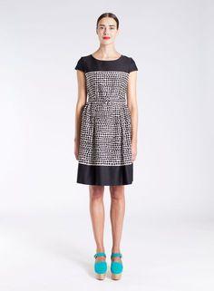 Paplari-mekko (l.valkoinen, musta) |Vaatteet, Naiset, Mekot ja hameet | Marimekko