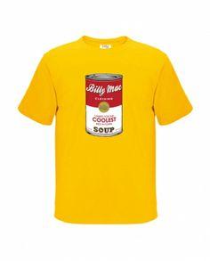 Boy's warholesque soup can t-shirt - hardtofind.