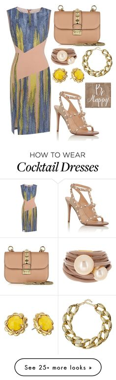 """""""Be Happy"""" by tychehecateartemishera on Polyvore featuring Valentino, Saachi…"""