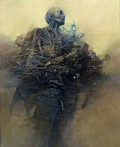 Zdzislaw Beksinski Gallery: Zdzislaw Beksinski paintings from 1985