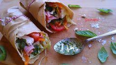 Érdekel a receptje? Kattints a képre! Fresh Rolls, Food Inspiration, Hamburger, Food Porn, Tacos, Food And Drink, Mexican, Gluten Free, Healthy Recipes