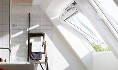 Παράθυρα Στέγης Velux με Λευκό Φινίρισμα Πολυουρεθάνης- Κατάλληλα για χώρους με Υγρασία