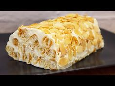 Rýchly a ľahký koláč z lístkového cesta # 241 - YouTube Oreo Cheesecake Recipes, Party Desserts, Cookie Desserts, Dessert Recipes, Fresh Cream, Cannoli, Kitchen Recipes, Baked Goods, Food And Drink