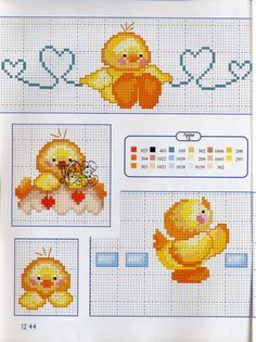 Gallery.ru / Фото #10 - Cose per Creare 2015-61 - tymannost Cross Stitch Designs, Tinkerbell, Needlepoint, Kids Rugs, Easter, Crafty, Baby, Appliques, Craft Ideas
