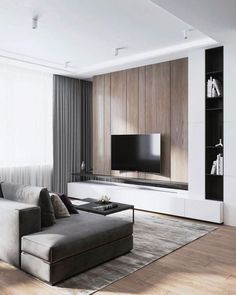 70 Rustic Tv Wall Design Ideas For Home 1 - homydezign Modern Minimalist Living Room, Contemporary Living Room Furniture, Living Room Modern, Living Room Interior, Minimal Living, Cozy Living, Minimalist Decor, Modern Wall, Small Living