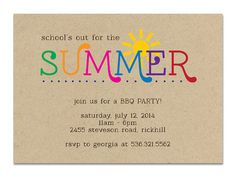 Free Printable School's Out for Summer Party Invitations ...