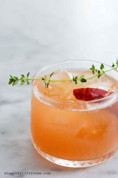 Peach Bourbon Thyme Smash Cocktail Recipe