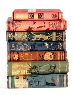 """michaelmoonsbookshop: """" michaelmoonsbookshop: """"Late century publisher's cloth bindings highlighted and titled in gilt """" [Sold] """" Vintage Book Covers, Vintage Books, Old Books, Antique Books, British Books, Quiet Storm, Book Spine, Beautiful Book Covers, Ex Libris"""