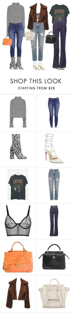 """Being With You Always Felt Like A Dream"" by deadinsidebutstillchillin ❤ liked on Polyvore featuring Acne Studios, Public Desire, Christian Louboutin, River Island, Marc Jacobs, Chanel, Fendi, CÉLINE, Dior and christianlouboutin"