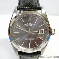 Vintage Rolex Oyster Perpetual Mens Amazing Grey Dial 1500 Genuine Watch #Rolex #Sport