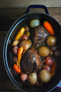 Our absolute favorite venison recipe! Venison turns out fork tender and veggies soak up the flavor of the meat. Delicious!