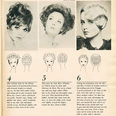 Retro Hairstyles Setting Patters from 1968 Vintage Hairstyles Tutorial, 1940s Hairstyles, Amazing Hairstyles, Party Hairstyles, Long Hairstyles, Hairdos, Wedding Hairstyles, Roller Set Hairstyles, Hair Chart