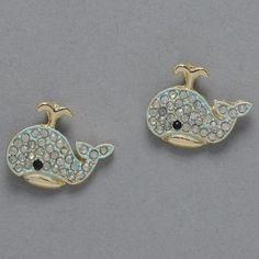 Whale earrings... ADORABLE!