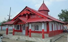 Nartiang Durga temple is the most famous temple in Meghalaya and one of the 51 Shakthi Peethas of Goddess Durga. The temple is one of the holiest sites Divine Goddess, Durga Goddess, Lord Balaji, Shillong, Durga Puja, Capital City, Ayurveda, Temple, House Styles