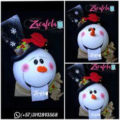 Snowman, Christmas Ornaments, Holiday Decor, Tela, Christmas Ornament, Holiday Ornaments, Embroidered Cushions, Pink Out, Christmas Balls