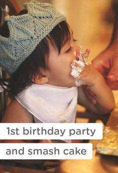 A smash cake is an oh-so adorable way to celebrate your baby's first birthday! Don't forget to get your camera ready to capture the cuteness of this fun milestone moment during your little one's first birthday party.