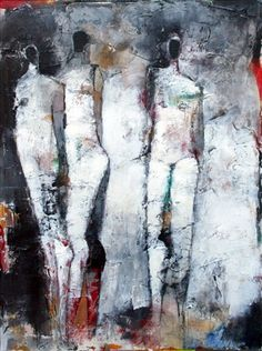 Julie Schumer - Figures 3 No. 31  30x22 mixed media on paper  copyright Julie Schumer