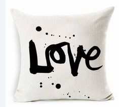 Decorative throw pillow - Love Graffiti style urban pillow cover giftable accent pillow bedroom cushion cover inspirational quote custom by SilhouetteCrush on Etsy https://www.etsy.com/ca/listing/585857669/decorative-throw-pillow-love-graffiti