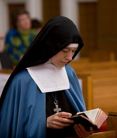 Sister Marie of the Love of God at the chapel of the Carmelite Sisters of the Divine Heart of Jesus.