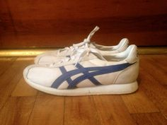 Vintage Womens 1970s 1980s ASICS Cheerleader White & Blue Tennis SHOES Size  7.5 Converse Keds