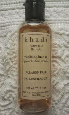 Khadi-Ayurvedic-Oil Hair Growing, Grow Hair, Ayurvedic Hair Oil, Mineral Oil, Perfume Bottles, Cosmetics, Store, Beauty, Products
