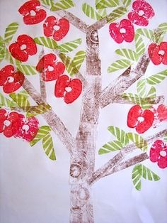 Apple tree print tutorial