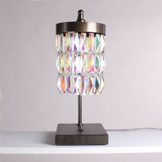 Petrol Crystal Table Lamp Bronze Front