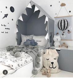 Ideas to Get an Original Kids' Headboard Baby Bedroom, Baby Boy Rooms, Girls Bedroom, Toddler Rooms, Toddler Bed, Creative Kids Rooms, Kids Room Design, Suites, Kid Spaces