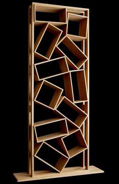 'Bric à Brac' oak bookcase/shelving by Drugeot Labo, France