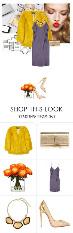 """""""THE coat"""" by anny-dd ❤ liked on Polyvore featuring Home Source International, Christian Dior, Yves Saint Laurent, Lux-Art Silks, Chico's, Christian Louboutin, women's clothing, women, female and woman"""