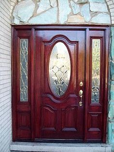 My front door was light honey oak and showed such wear and tear from Chicago winters.  Here is the after - I love the difference and it changes  the whole house!