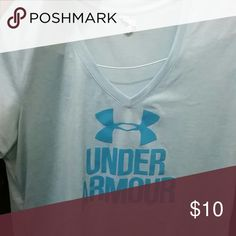 Under Armour v-neck shirt Only worn a handful of times. Under Armour Tops Tees - Short Sleeve