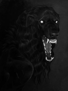 borzoi by Atenebris on DeviantArt Fantasy Creatures, Mythical Creatures, Lobo Anime, Scary Dogs, The Ancient Magus Bride, Anime Wolf, Dog Paintings, Creature Design, Dog Art