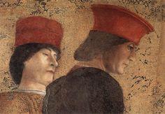 .:. Andrea Mantegna, The Court of Gonzaga (detail), 1465-1474. fresco